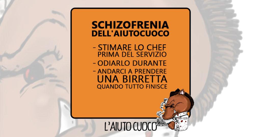 l'aiutocuoco - schizofrenia - Vignetta fb