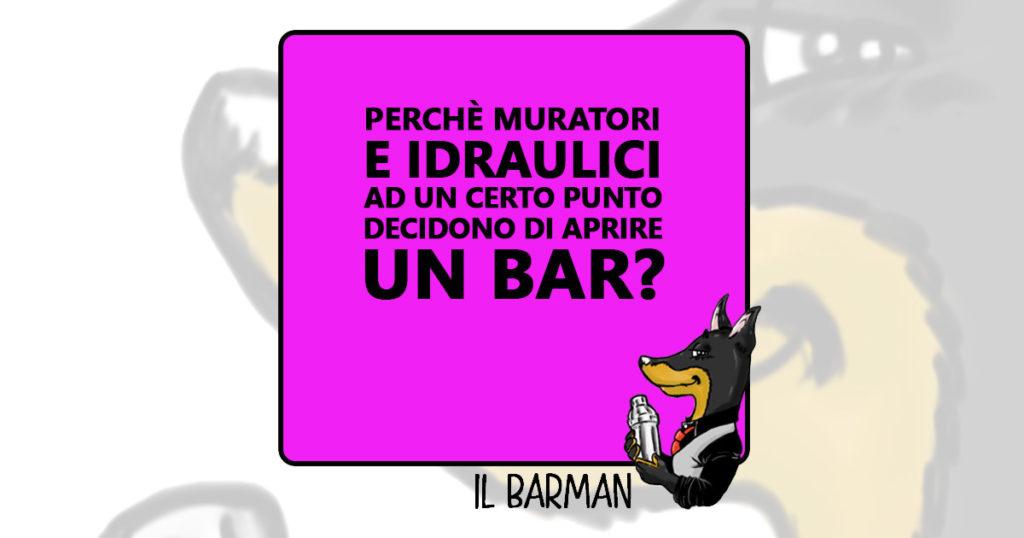 Il Barman - Muratori e idraulici - Vignetta