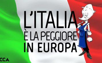 L'Italia è la peggiore in Europa